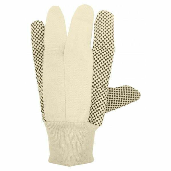 Cotton Canvas Glove With PVC Dots