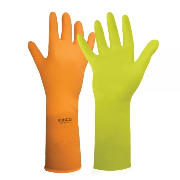 DURA-FIT™ Latex Reusable Glove, Flocklined