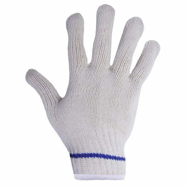 Poly/Cotton String Knit Glove With PVC Dots
