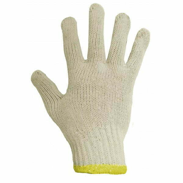 Poly/Cotton String Knit Glove With PVC Dots (One Side)