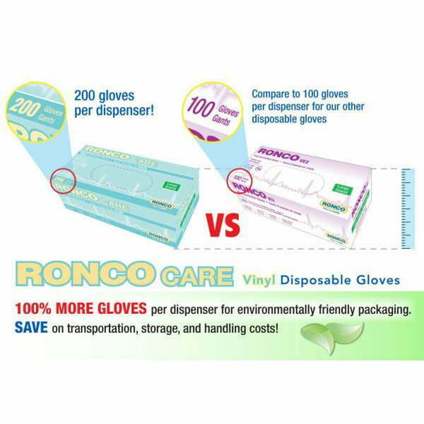 RONCO CARE™ Vinyl Examination Glove