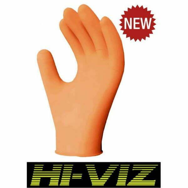 Ronco Orange Nitrile Examination Glove