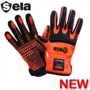 SELA 92-300 Impact Resistant Gloves Hi-Viz Orange, Regular