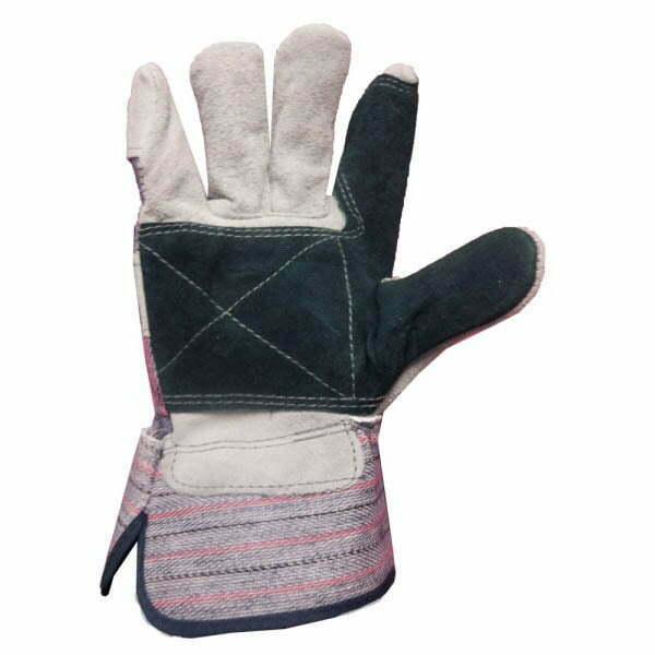 Split Leather Fitter Double Palm With Safety Cuff