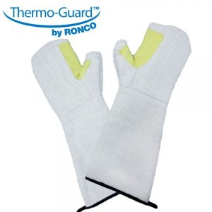 """Thermo-Guard™ 66-380 18"""" Terry Cloth Fully Lined Oven Mitt With Kevlar Thumb Patch"""