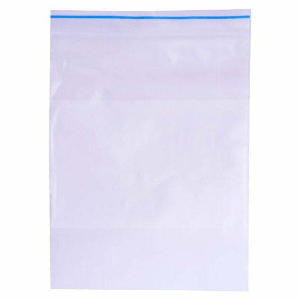 Ziplock Reclosable Bag 4 mil White Block Ziplock Reclosable Bag 4MIL White Block