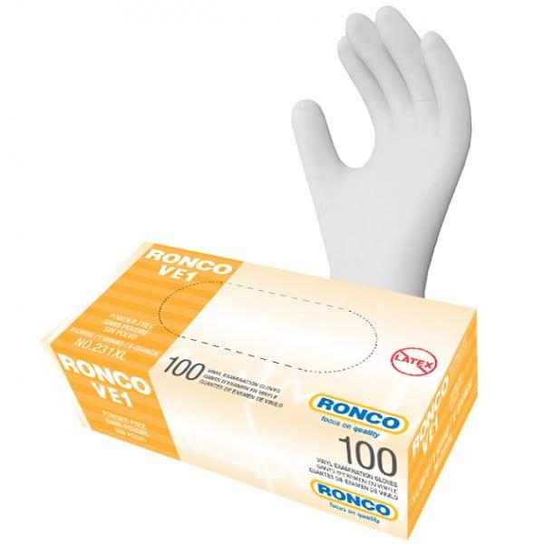 RONCO VE1 Vinyl Examination Glove (3 mil)
