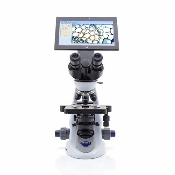 Upright Digital Binocular Microscope with Tablet