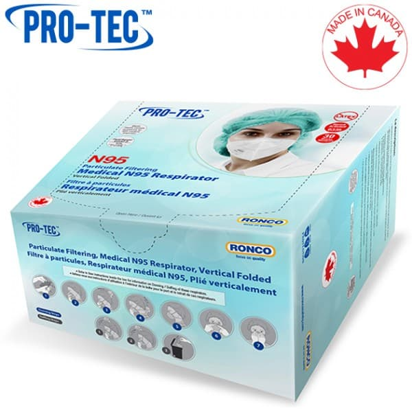 PRO-TEC Particulate Filtering / Medical N95 Respirator, Vertical Folded
